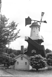 View of Dutch Wind-mill at Shelby Park - Burned down