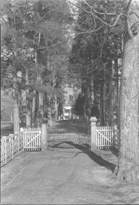 Views of front gate at Hermitage