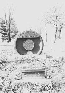 Engine-wheel Gravestone in Greenwood Cem.