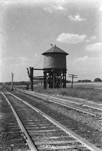 Railroad water tank at McDaniel